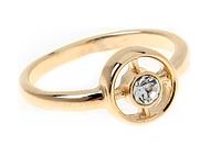 """Кольцо """"Ивало"""" с кристаллами Swarovski, покрытое золотом (e098p000)"""