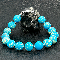 Варисцит синий, Ø10 мм., браслет, 281БРВ