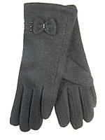 Женские перчатки трикотаж/махра оптом 5 пар