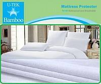 Махровое постельное белье непромокаемое полуторное  U-tek Bamboo