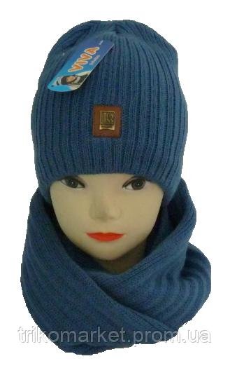 Комплект для мальчика шапка и хомут м 7053 0158c899f6dbf