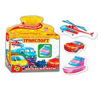 """Мягкие магниты """"Транспорт"""" VT 3101-06 Vladi Toys"""