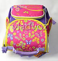 Школьный каркасный рюкзак для девочек бабочки Smile, фото 3