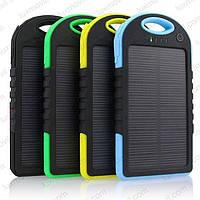 Портативное зарядное устройство Power Bank 30000 mAh с солнечной батареей + LED фонарь
