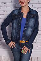 Модный женский джинсовый пиджак (код 209)