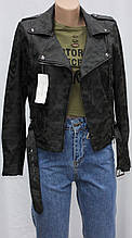 Куртка-косуха  молодежная короткая, цвет милитари/осень весна