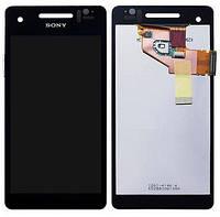 Дисплей Sony LT25i Сони Xperia V с тачскрином в сборе, цвет черный