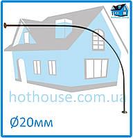 Карниз нержавейка дуга 120*120 для шторы (ванная, душ)