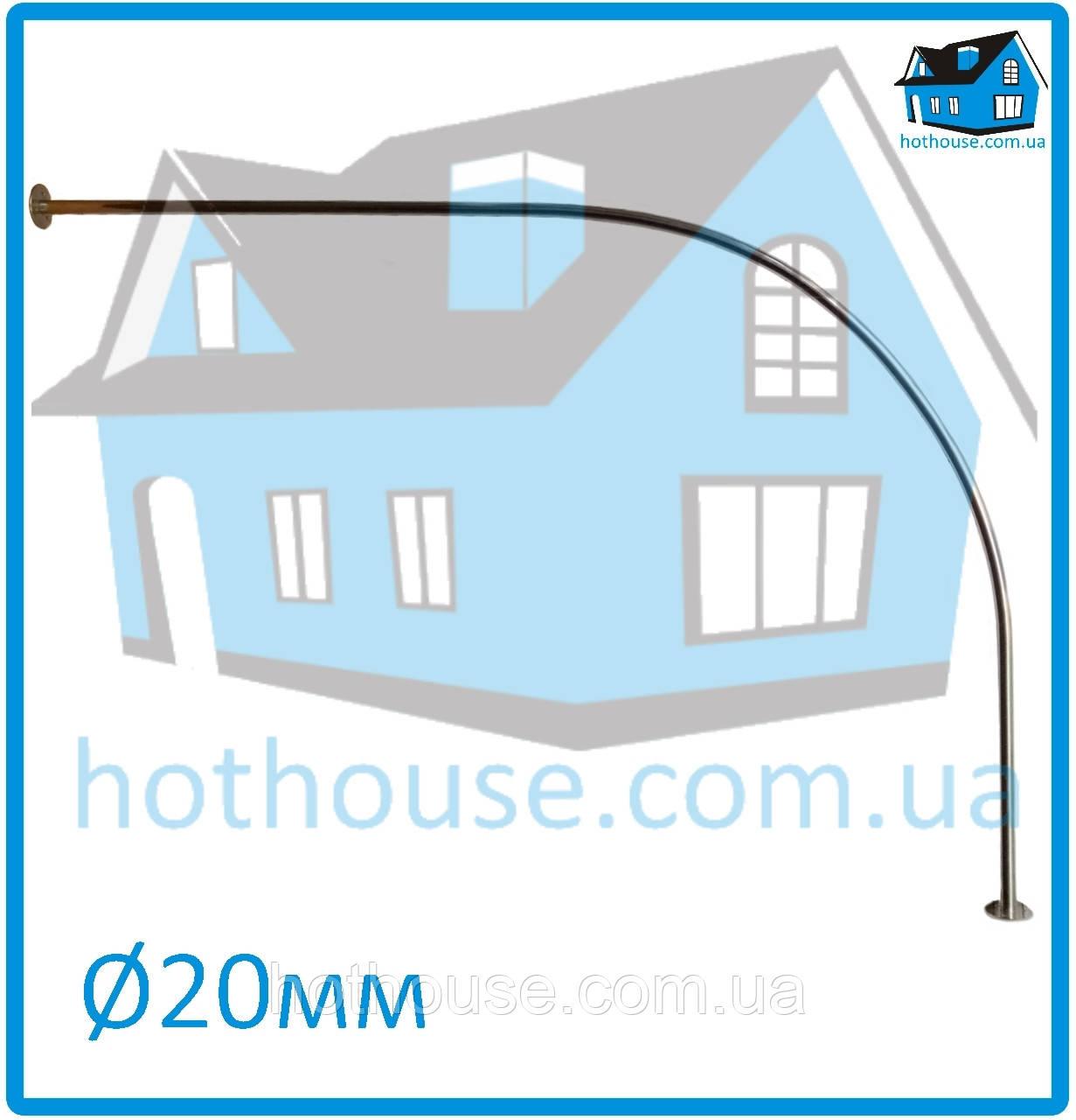 Карниз нержавейка дуга 70*170 для шторы (ванная, душ)