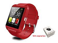Смарт часы U8, Smart watch. Красные. Заводская упаковка.