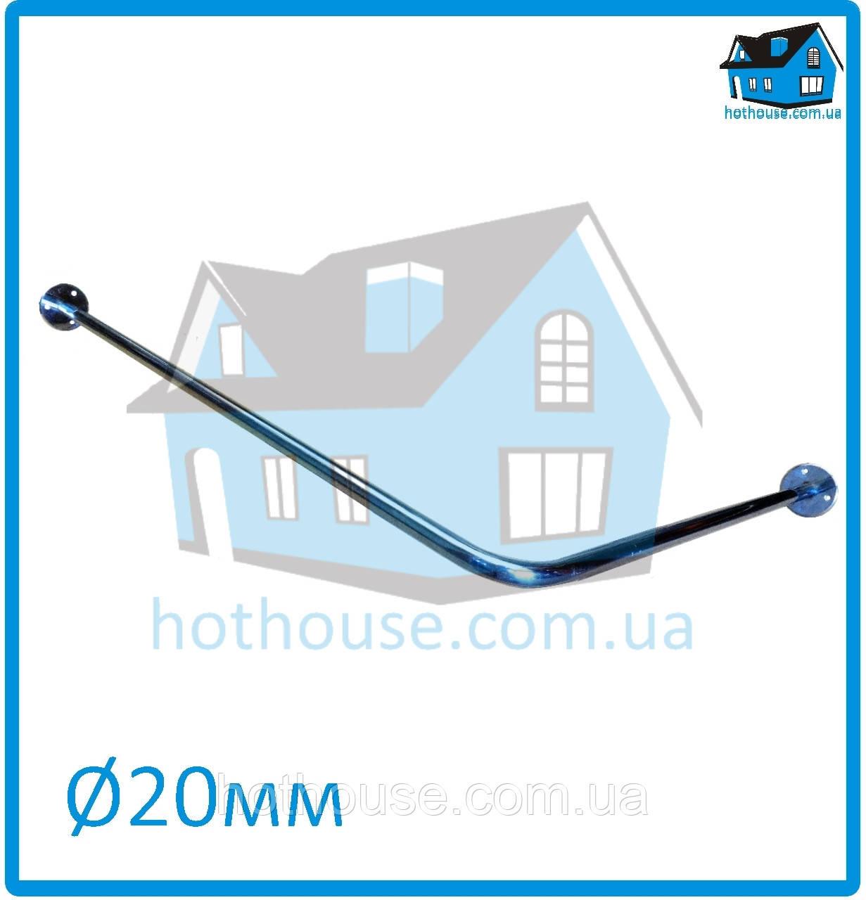 Карниз нержавейка угловой (90°) 90*90 для шторы (ванная, душ)