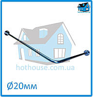 Карниз нержавейка угловой (90°) 180*80 для шторы (ванная, душ)