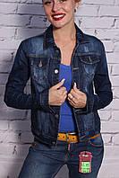 Стильный женский джинсовый пиджак Hell Yes (код 205)