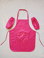 Фартук для творчества с нарукавниками (розовый)