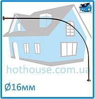 Карниз нержавейка дуга 125*125 для шторы (ванная, душ)