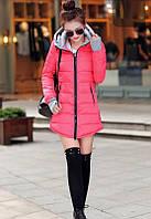 Пуховик женский демисизонный. С капюшоном. Модель 62118, фото 7