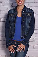 Модный женский джинсовый пиджак (код 130)