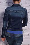 Модный женский джинсовый пиджак (код 130), фото 3