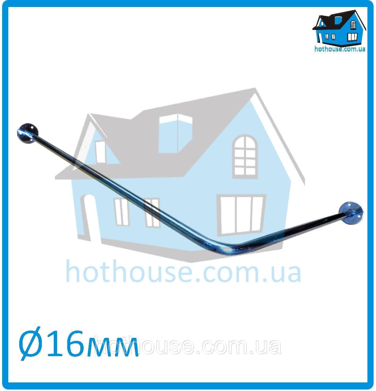 Карниз нержавейка угловой (90°) 170*75 для шторы (ванная, душ)