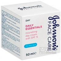 Johnson's Daily Essentials Дневной питательный крем для сухой кожи с SPF 15 50 мл