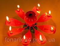 Музыкальная свеча лотос большая (16 см), фото 1