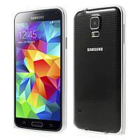 Чехол бампер металл LOVE MEI для Samsung Galaxy S5 G900 серебро
