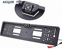 Камера заднего вида в автомобильной рамке номера с 4 LED подсветкой Акция !!!