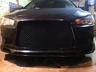 """Пластиковая сетка в бампер для стайлинга """"Bentley Style"""" Mitsubishi Lancer X 2007+ г.в.(Митсубиси Лансер)"""