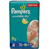 PAMPERS Подгузники Active Baby-Dry Maxi(7-14кг)70