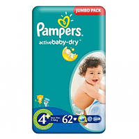PAMPERS Подгузники Active Baby-Dry Maxi(9-16кг)62