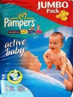 PAMPERS Подгузники Active Baby Midi(4-9кг)82