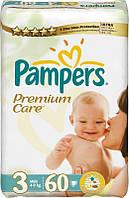 PAMPERS Подгузники Premium Care Midi(4-9кг)60