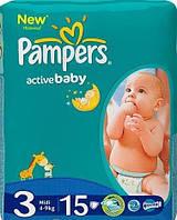 PAMPERS Подгузники Active Baby Midi(4-9кг)15