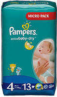 PAMPERS Подгузники Active Baby-Dry Maxi(7-14кг)13