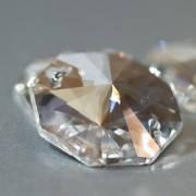 Бусины хрустальные, форма Октагон, цвет Crystal 14mm*1шт