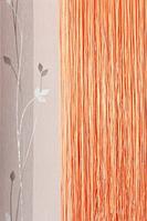 Нити декоративные однотонные - оранжевый