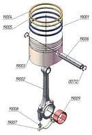 Шатунно-поршневая группа ЦНД на компрессор ПКС-5,25
