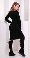 Платье короткое вязаное черное