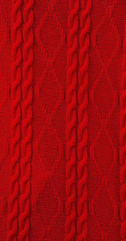 Костюм вязаный красный