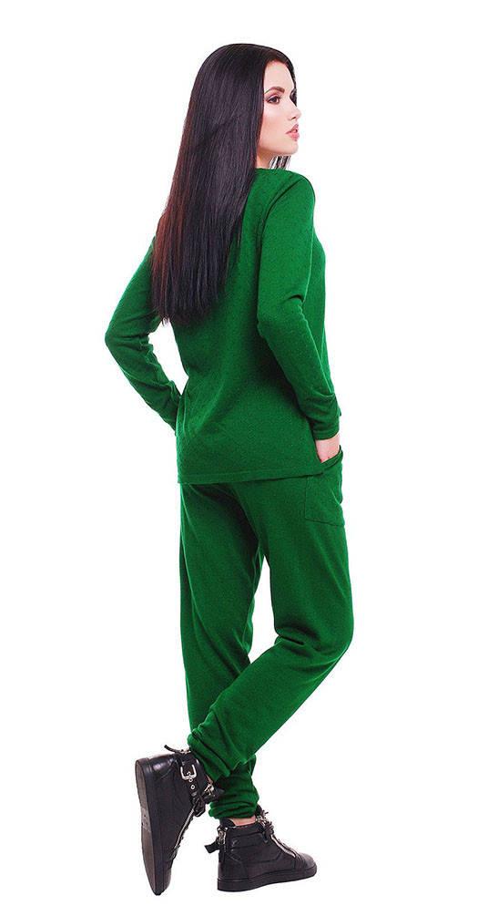 Вязаный комбинезон зеленый