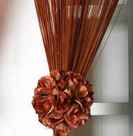 Нити декоративные однотонные - коричневый