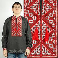Вышиванка мужская с красно-белой вышивкой