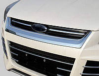 "Хром накладка под решетку радиатора ""улыбка""  Ford Kuga 2013+"