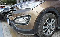 Окантовки передних противотуманных фар Hyundai Santa Fe 2013-