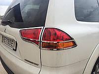 Хром накладки на стопы Mitsubishi Pajero Sport 2009-2015 хромированный пластик