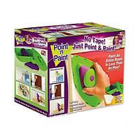Набор Point 'n Paint для рисования стен, Кисть-плашка для покраски Пойнт энд Пейнт Point and Paint