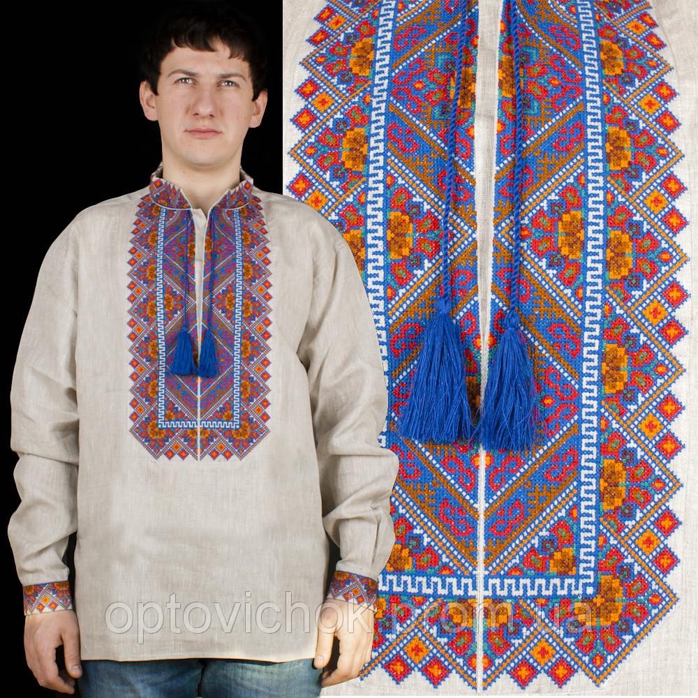 Льянная мужская сорочка, большая цветовая гамма