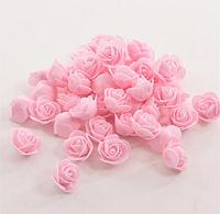 Роза из латекса, св.розовая  2,5-3 см