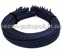 Обруч для волос обмотанный атласной лентой  (6мм металлический).Цена за 50 шт. Цвет - темно синий