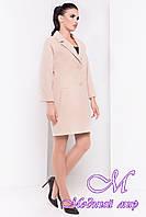 Женское осеннее пальто на пуговицах (р. S, M, L) арт. Бруно 13677